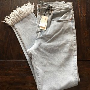 Levi's Made & Crafted 501 Skinny Jeans Fringed Hem